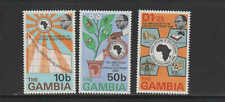 GAMBIA #319-321  1975  AFRICAN DEVELOPEMENT BANK   MINT  VF NH  O.G