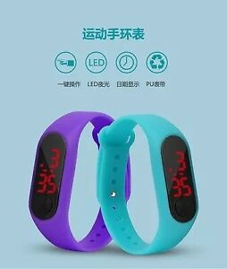 Led Sport Watch Casual Silicone For Kids Watches Wristwatch Bracele