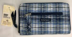 "Bella Taylor ""True Blue"" Wrist Strap Wallet ~Victorian Heart~ Quilted  Purse"