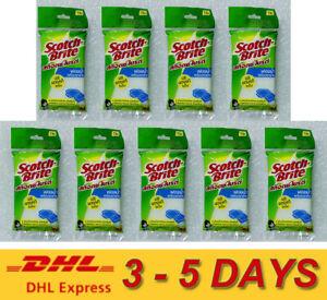 9 x 3M Scotch-Brite Sponge Net All Purpose Cleaning Net Sponge Pad 1 Pieces