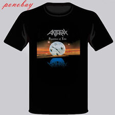 New Anthrax Persistence of Time Logo Men's Black T-Shirt Size S-3XL