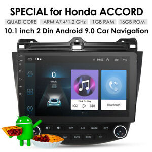 10.1'' Android 9.1 Touch Screen Car Radio GPS For Honda Accord 2003-2007 DAB+ BT