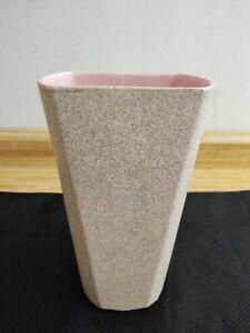 Shawnee MCM Touche vase paneled w/ pink interior