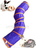 Folding Pet Rabbit Guinea pig Ferret Fun S Tunnel with TWO Holes Pop Out Toys