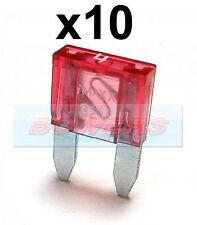 PACK OF 10 12V 24V VOLT 4A AMP PINK MINI BLADE FUSES KIT CAR VAN MARINE