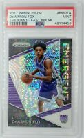 2017 Panini Emergent Fast Break Prizm De'Aaron Fox Rookie RC, PSA 9, Pop 24, 11^