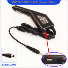 Laptop DC Adapter Car Charger + USB for Samsung NP-X420-JA04FR NP-X420-JA04RU