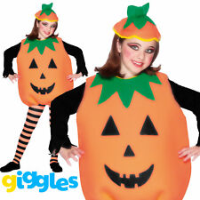 Child Pumpkin Costume Girls Boys Halloween Fancy Dress Outfit Trick or Treat New