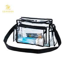 Medium Clear Plastic Tote Bag Women Transparent Handbag Crossbody Purse Shoulder