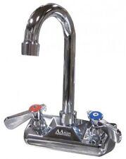 "1 Set 4"" Wall Mount Faucet Commercial Hand Sink W/3-1/2"" Gooseneck Spout #Aa410G"