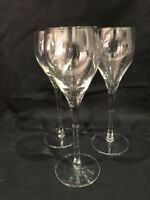 3 Long Thin Stem Small Wine/Sherry/Port Crystal Glasses