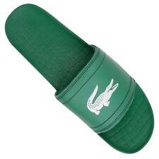 Lacoste Fraisier BRD1 Green/White Men's Slides Flip Flops Sandals Sz 10 New