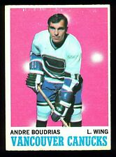1970 71 OPC O PEE CHEE #121 ANDRE BOUDRIAS EX-NM VANCOUVER CANUCKS HOCKEY CARD