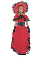 Scarlet O'Hara Girls Book Week Victorian Childrens Fancy Dress Kids Costume 3-13