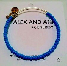 Alex and Ani Blue Sky Sea Bead  Russian Silver Color Expandable Bracelet ❤️