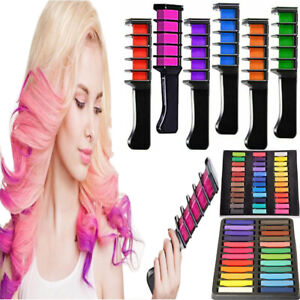 6PCS Hair Chalk Comb Temporary Bright Hair Color Cream for Girls Kids Gifts
