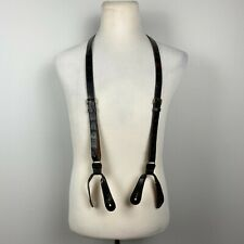 Trafalgar Alligator Skin Suspenders Braces