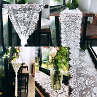 1/2Pcs Lace Floral Table Runner Wedding Banquet Party Boho Home Tablecloth Decor