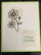 Card Kit Set Of 4 Stampin Up HAPPY BIRTHDAY Flowers