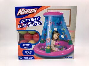 Banzai Butterfly Play Center Inflatable Ball Pit With 20 Soft-touch Balls 18M+