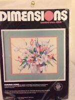 Counted Cross Stitch Kit Dimensions Summer Song Unopened 3637 Flower Arrangement