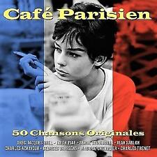 CAFE PARISIEN - 50 CHANSONS ORIGINALES (NEW SEALED 2CD Digipak )