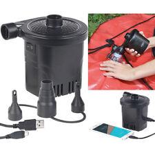 infactory 2in1-Akku-Luftpumpe mit Powerbank-Funktion & USB-Ladekabel, 250 l/Min