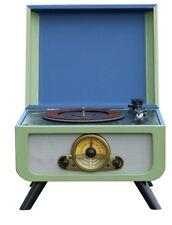 Steepletone Rico Retro Turntable - Blue/Green Record CD Player Radio USB 1960's