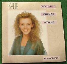"Kylie Minogue Wouldn't Change a Thing / It's No Secret PWL 42 7"" Single"