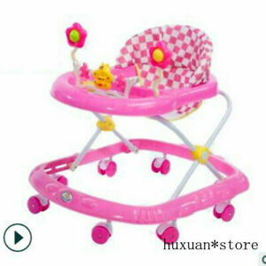 Multifunctional Anti-rollover Baby Walker 6/7--18 Months with Music Baby Walker