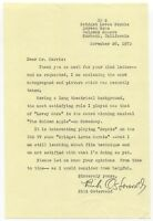 Bibi Osterwald Signed Letter TLS Autographed Signature Actress