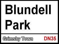 Grimsby Town Blundell Park Street Sign / Metal Aluminium / Football Fc