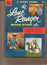 DELL GIANT LONE RANGER/MOVIE STORY 1956 MOORE/PHOTO..VG/VG+