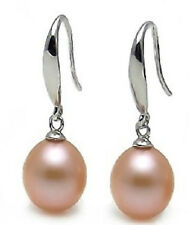 PAIR OF PERFECT ROUND SOUTH SEA 11MM GOLD PINK LOOSE PEARL EARRING