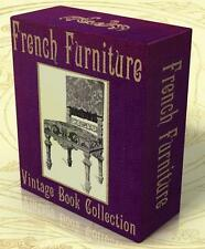 FRENCH FURNITURE 11 Vintage Books on CD Louis XIII-Louis XVI, ANTIQUE FURNITURE