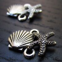 10 Green Seashell With Pearl 15mm Silver Plated Enamel Charms C6489-5 20PCs