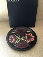 """MOORCROFT Pottery Limited Edition Few Pieces 34/94 10"""" Floral Plate"""
