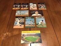 10 Vintage Lot Los Angeles Dodgers Baseball Postcards ~ Stadium, Lasorda, Cey...