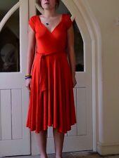 Diane Von Furstenberg wrap dress UK size 12  USA 8  - nwot - red - flared