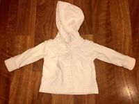 Baby Gap Girls Size 3-6 Months 3 6 Cream Cardigan Sweater Hooded