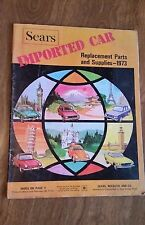 Sears 1973 Imported Car Replacement Parts & Supplies. VW, Porsche, Renault, Saab