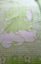 """Couverture pour enfants """" éléphant vert """" 100% coton ! fabriqué en Allemagne"""
