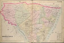 1889 MIDDLETOWN TOWNSHIP MONMOUTH COUNTY NEW JERSEY SHADY HOOK BAY ATLAS MAP