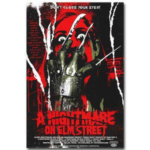 A Nightmare On Elm Street Horror Movie Silk Fabric Poster 13x20 24x36 inch 11