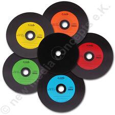 Vinyl CD Rohlinge Carbon 50 in Cake,700 MB zum archivieren, Dye schwarz 5 Farben