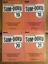 Lot of 4 SUM DOKU Penny Press DELL Selected Puzzle Variety Sum-doku Sudoku twist