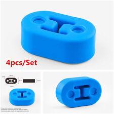 4Pcs Blue Car Polyurethane Rubber 2 Hole 12mm Exhaust Muffler Hanger Universal