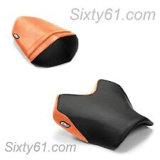 Kawasaki Z750 Seat Covers 2007-2012 Black Orange Rider Passenger Luimoto