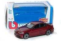 Alfa Romeo Giulia 2016 in red, Bburago 18-30329, scale 1:43, toy gift model