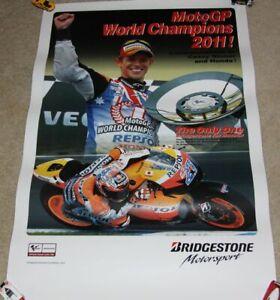 2012 Casey Stoner Bridestone Ducati '11 MotoGP World Champion Poster